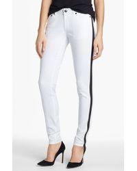MICHAEL Michael Kors Zip Detail Skinny Jeans - Lyst