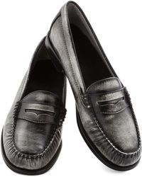 ModCloth Loafer and Over Flat in Steel - Lyst