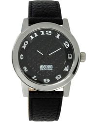 Boutique Moschino - Stainless Steel and Leather-Strap Watch - Lyst