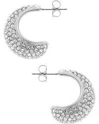 Nadri Crystal Pave Hoop Earrings - Lyst