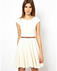 A Wear - Textured Skater Dress With Belt - Lyst
