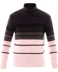 Raf Simons | Stripe Rollneck Sweater | Lyst