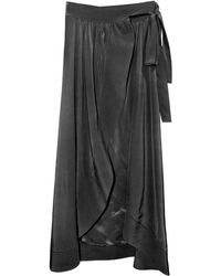 Cynthia Rowley Long Wrap Skirt - Lyst