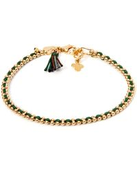 Gag & Lou - Gold Plated Pompom Bracelet - Lyst