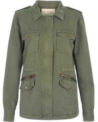 Velvet By Graham & Spencer Ruby Army Jacket green - Lyst