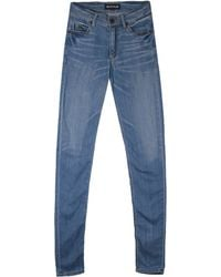House of Holland Blue Skinny Jeans - Lyst