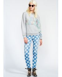 House of Holland Polka Dot Skinny Jeans - Lyst