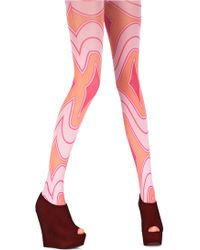House of Holland - Rave Wave Tights Pink - Lyst