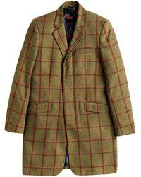 Joules - Duke Tweed Check Overcoat - Lyst