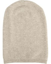 Barneys New York Oversized Knit Cap - Lyst