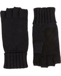 Barneys New York Black Fingerless Gloves - Lyst