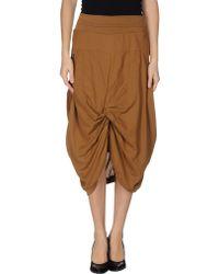 Manila Grace Knee Length Skirt - Lyst