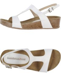 Manufacture D'essai - Leather Wedge Sandals - Lyst