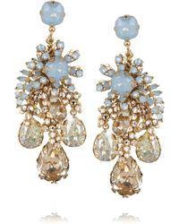 Bijoux Heart | Forget Me Not Goldplated Swarovski Crystal Earrings | Lyst