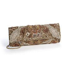 Deepa Gurnani | Beaded and Sequined Clutch Handbag | Lyst
