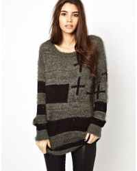 Asos Only Knit Cross Sweater - Lyst