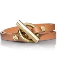 Tory Burch | Double Wrap Toggle Bracelet | Lyst