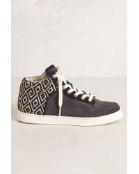 Kim & Zozi - Woven High Top Sneakers - Lyst