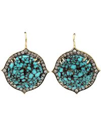 Sylva & Cie Kingman Turquoise Drop Earrings - Lyst