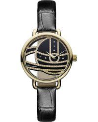 Vivienne Westwood Vv076gdbk Round Watch - Lyst