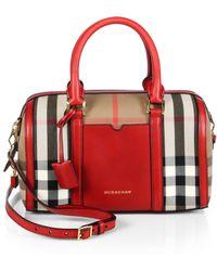 Burberry Alchester Canvas Bowler Bag - Lyst