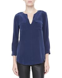 Joie Marlo Two-pocket Blouse - Lyst