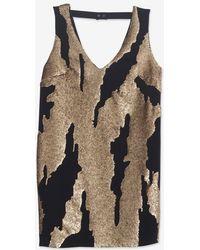 Robert Rodriguez Exclusive Distressed Sequin Mini Dress - Lyst