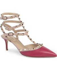 Valentino Studded Court Shoes - Lyst