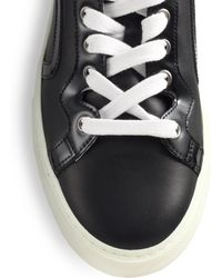 Pierre Hardy Leather High-Top Sneakers - Lyst