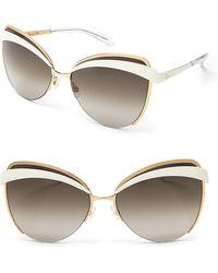 Dior Eyes Cat Eye Sunglasses - Lyst