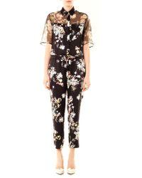 Erdem - Vala Eames Garden-print Silk Jumpsuit - Lyst