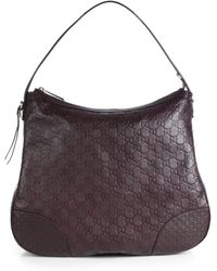 Gucci Bree Ssima Leather Hobo Bag - Lyst