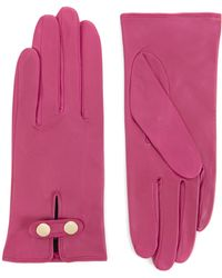 Ted Baker - Chupa Leather Button Glove - Lyst