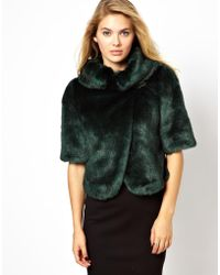 Wolford - Ted Baker Faux Fur Jacket - Lyst