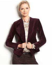 Ann Taylor Velvet Tuxedo Jacket - Lyst