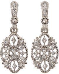 Judith Ripka - Small White Sapphire Castle Earrings - Lyst