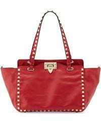 Valentino Rockstud Mini Tote Bag - Lyst