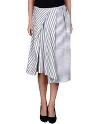 Acne Studios Knee Length Skirt - Lyst