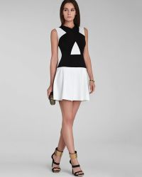 BCBGMAXAZRIA Dress Aloissa Color Block - Lyst