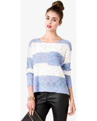 Forever 21 Striped Drop Shoulder Sweater - Lyst