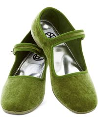 ModCloth Potluxe Dinner Flat in Green - Lyst