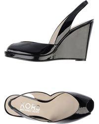 Kors by Michael Kors Peep-Toe Patent Wedge Slingbacks