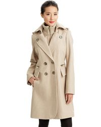 Miss Sixty - Doublebreasted Double Collar Knit Coat - Lyst