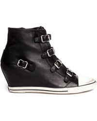 Ash Eagle Leather Wedge Sneakers - Lyst