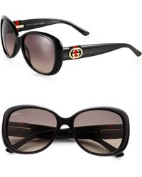 Gucci Classic Logo Round Plastic Sunglasses - Lyst
