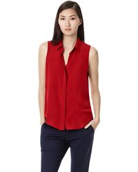 Theory Duria Shirt in Double Georgette Silk - Lyst