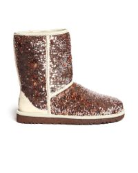 Ugg Classic Short Sparkles Boots - Lyst