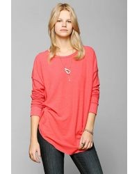 Urban Outfitters Sparkle Fade Cozy Drop Shoulder Top - Lyst