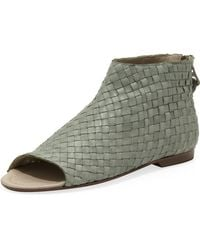 Henry Beguelin - Woven Opentoe Ankle Boot - Lyst