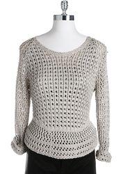 Lucky Brand Marissa Metallic Sweater - Lyst